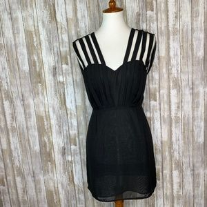 "UO ""Double in Brass"" Black Strappy Dress Sz S"